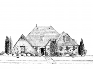 Custom Drawn House