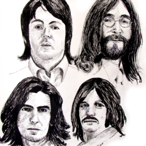 The Beatles in 1968 - Four Faces