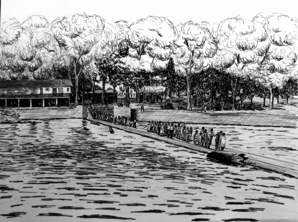 Matted print of Riverview Park, Miami, Oklahoma, 1920